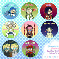 Dramatical Murder Button Set by LissyFishy