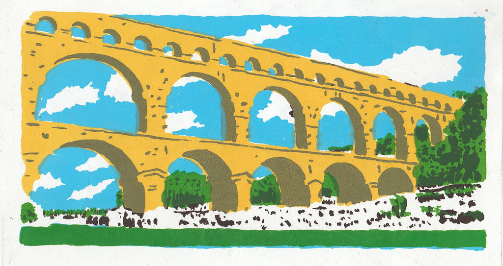 Pont du Gard by Walpado