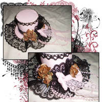 Faded Kiss Mini Top Hat by iReita
