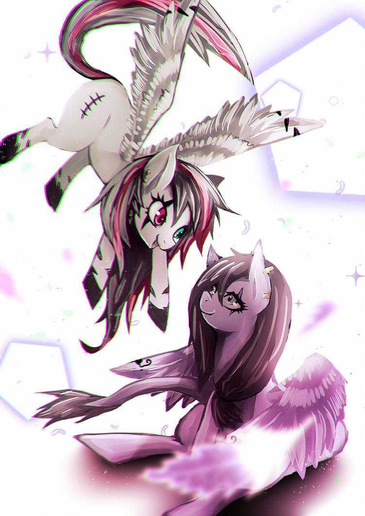 Emala and DarkLight by DenpaRasaito