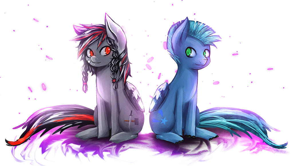 Nightfire and Chainmailse by DenpaRasaito