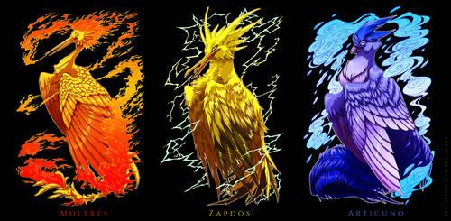 PKM: Legendary Avian Trio