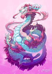 Pastel Grandpa Dragon