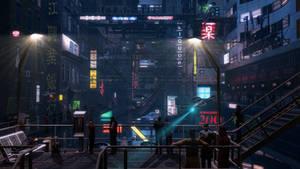 Cyberpunk street