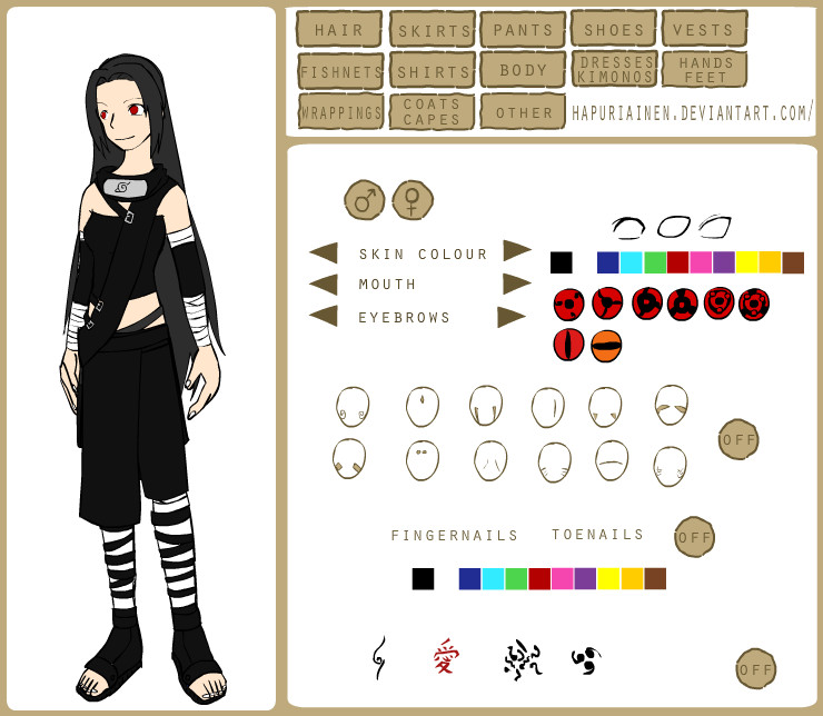Character Design Creator : My oc talia naruto character creator by fansilver on