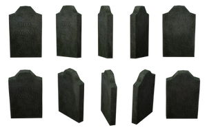 Gravestone Set 04 by Free-Stock-By-Wayne