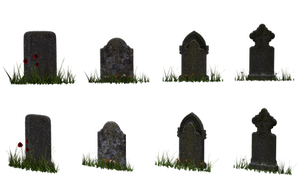 Gravestone Set 08 by Free-Stock-By-Wayne