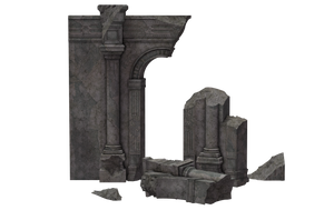 Building - Ruins Of Alecto 03 by Free-Stock-By-Wayne