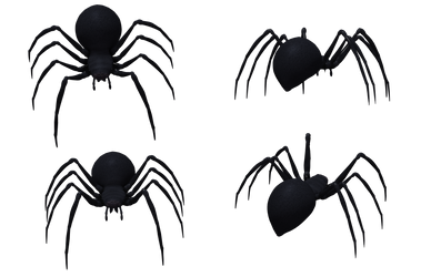 Black Widow Spider Set 02 by Free-Stock-By-Wayne