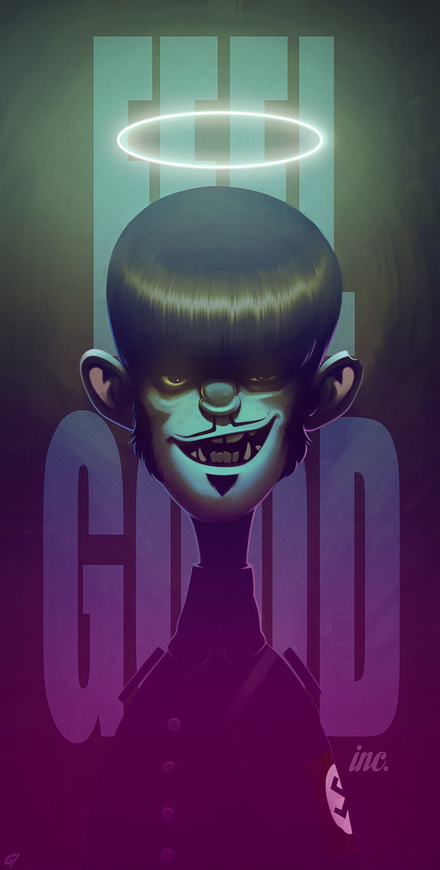 Murdoc Gorillaz fan art by Carravaggio