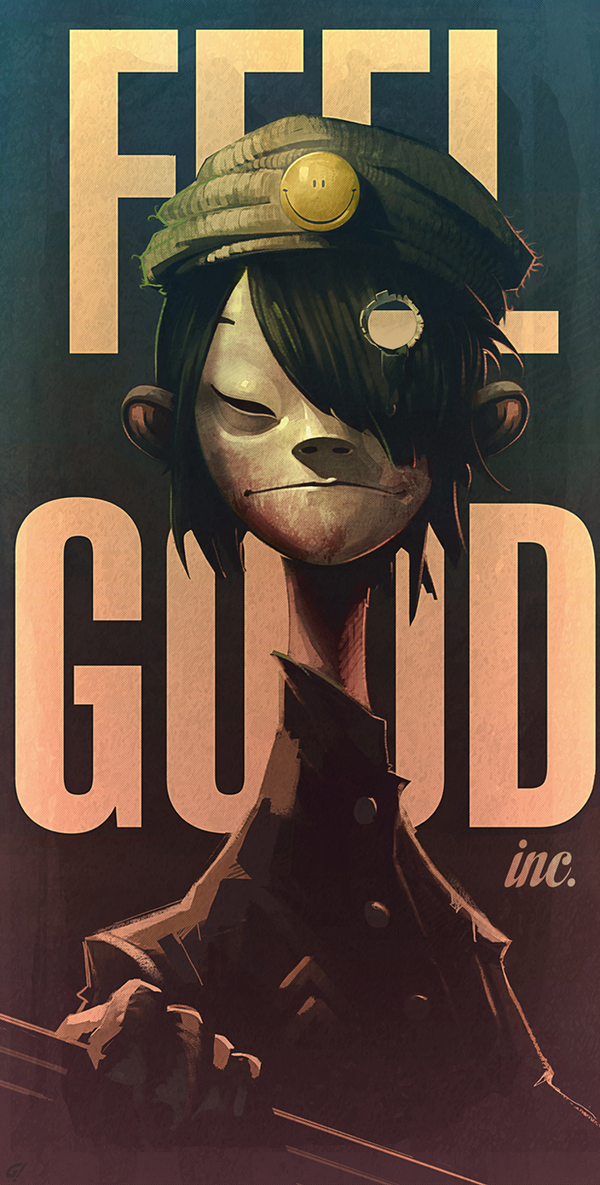 Noodle Gorillaz fan art by Carravaggio