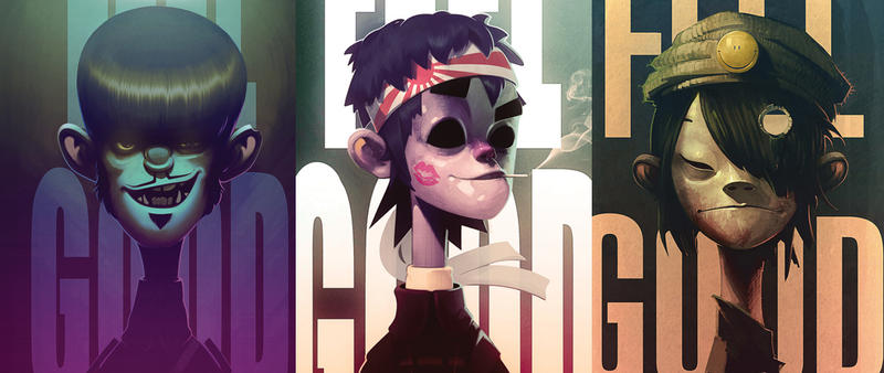 Gorillaz feel good fan art by Carravaggio