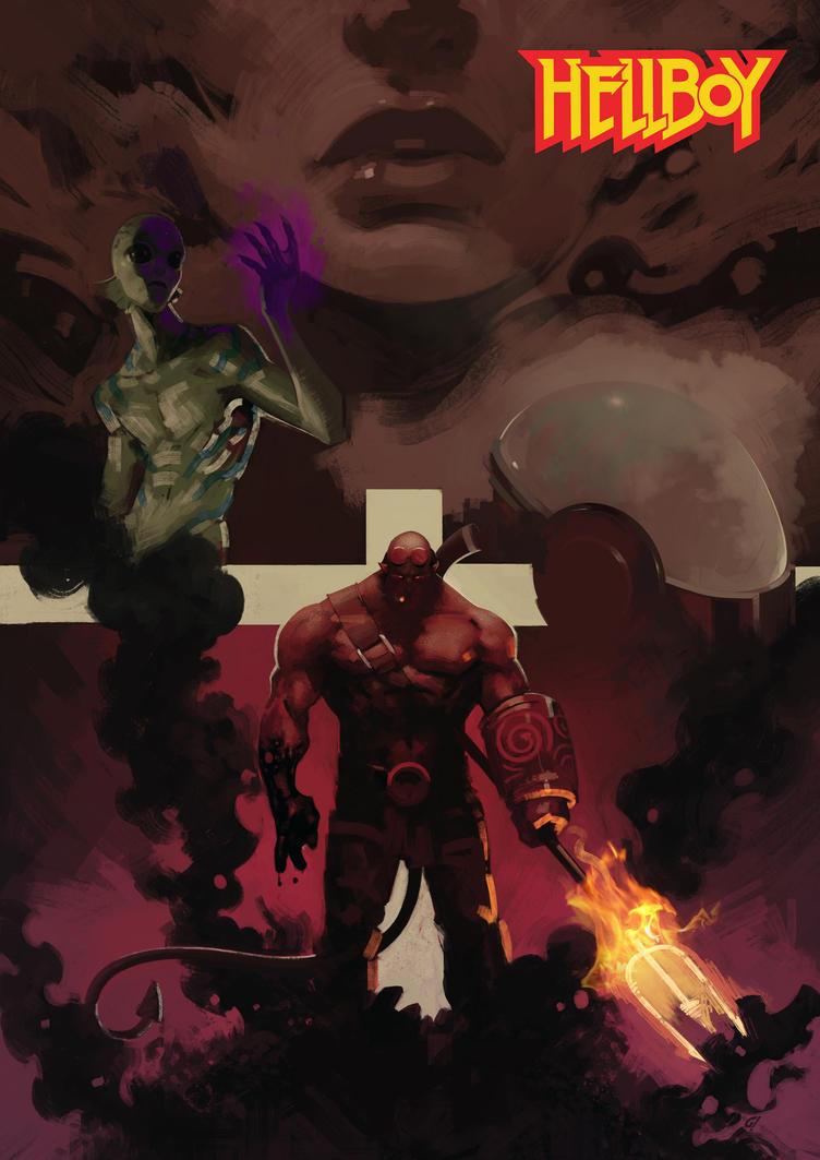 hellboy fan art by Carravaggio