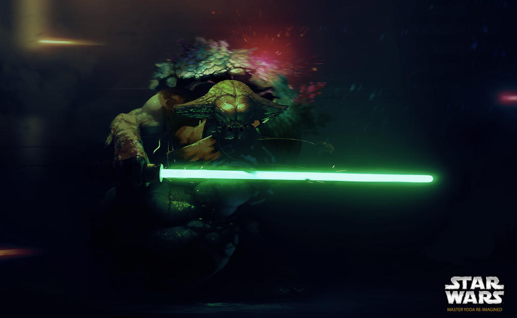 Master Yoda (star wars re-imagined) by Carravaggio