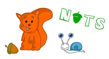 Nuts cartoon by MargeMiltsovits