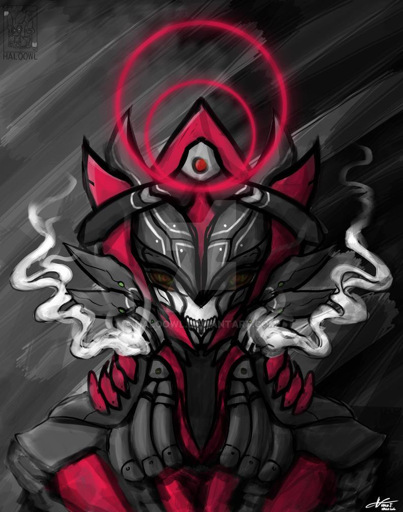 Alien Bot Head Smoke by haloowl