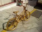 gold bike..