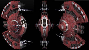 Mohawk Space Ship exterior by scifilicious