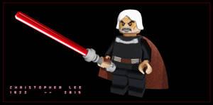 Christopher Lee 1922 - 2015 (Lego Count Dooku)