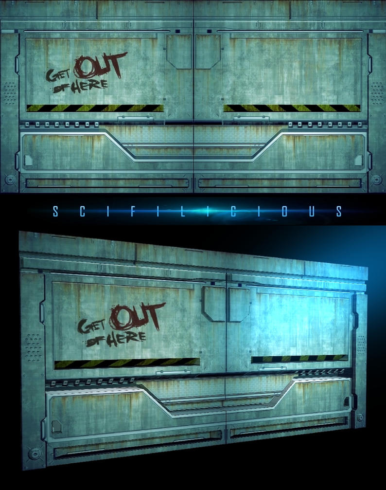 DIRTY SCIFI DOOR TEXTURE 3 by scifilicious on DeviantArt