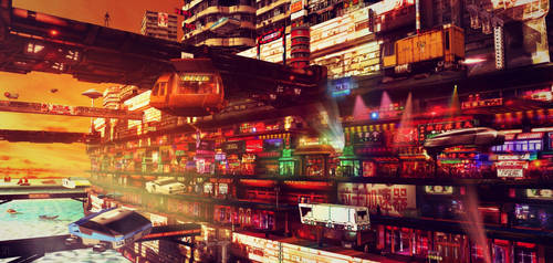 SHOPPING DISTRICT by scifilicious