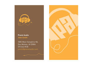 Planet Audio Business Card