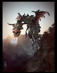 Roundeye Dragon by fireantz83