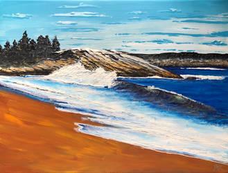Acadia 16 x 18 Sold www.lewdartist.com