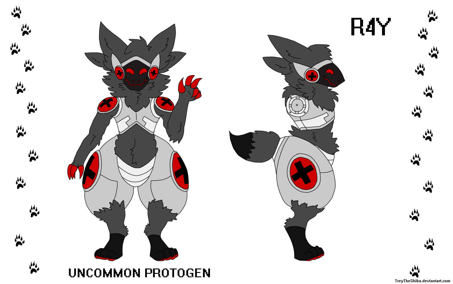 R4Y the Uncommon Protogen by TreyTheShiba
