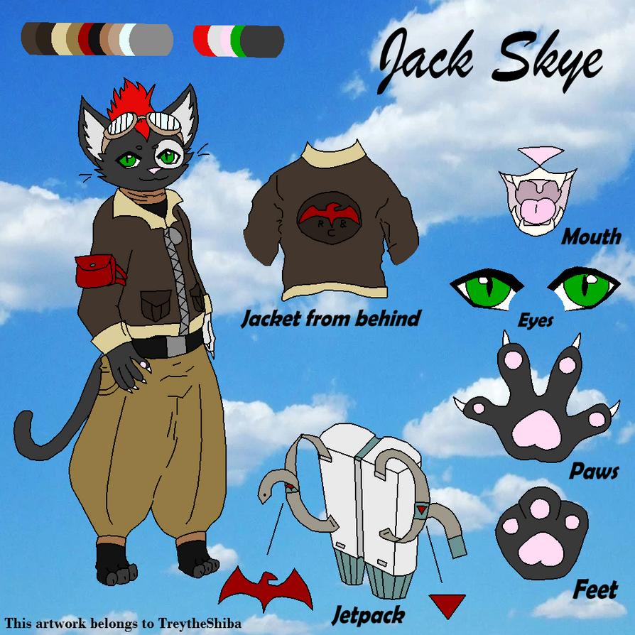 Jack Skye official Reference Sheet 2018 by TreyTheShiba