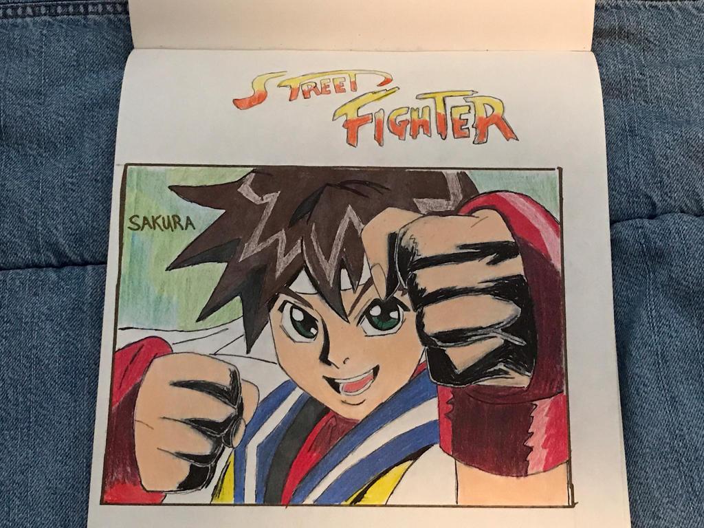 Sakura from Street Fighter Alpha the Movie by Inkkai