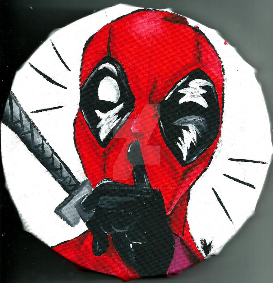 Deadpool on Canvas by rockgothicgirl