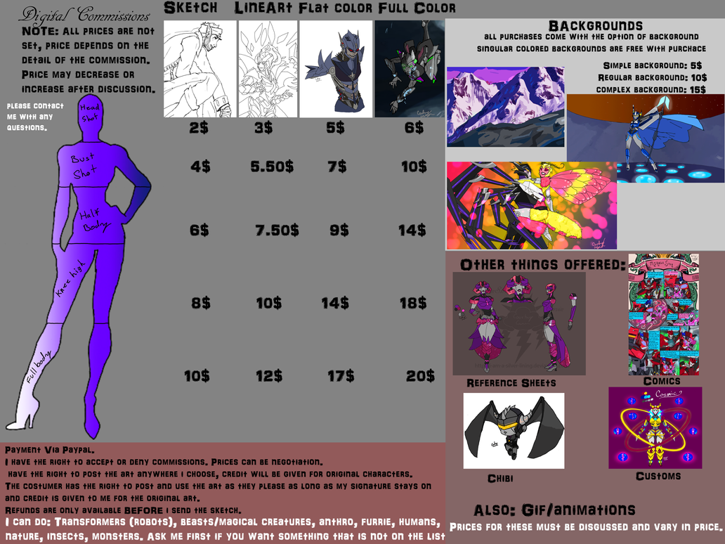 Commission price sheet by I-Am-A-Silver-Lining