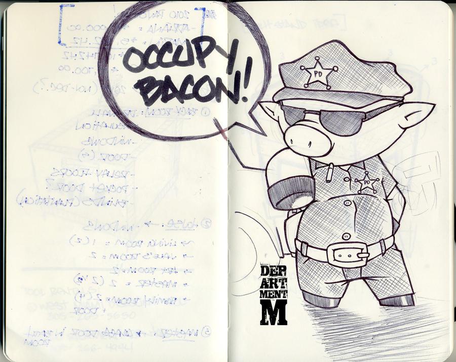 Moleskin: Occupy Bacon by DepartmentM