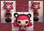 Teddy Honeypots Lalaloopsy crochet doll