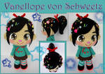 Vanellope crochet doll