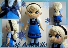 Elsa crochet toddler doll by annie-88