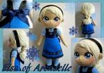 Elsa crochet toddler doll