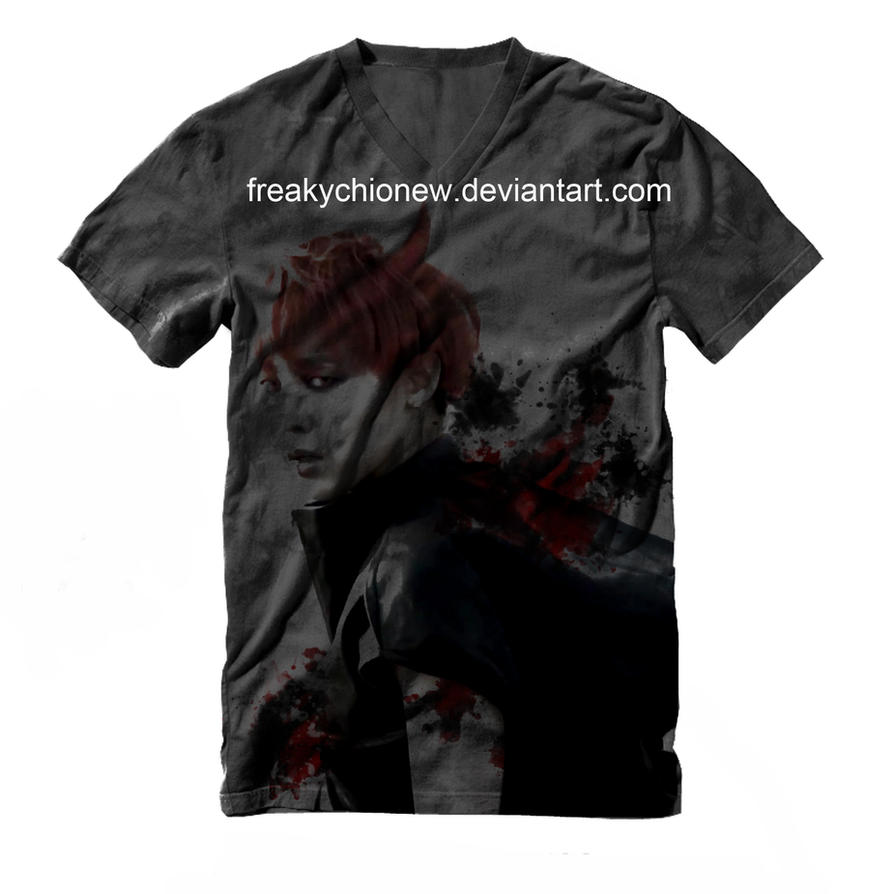 Gdragon Monster Shirt Design V2 by freakyCHIonew