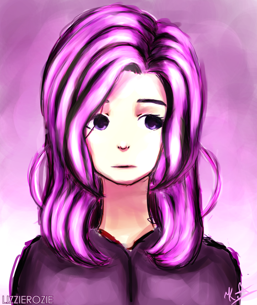 Random portrait [SPEEDPAINT] by LizzieRozie