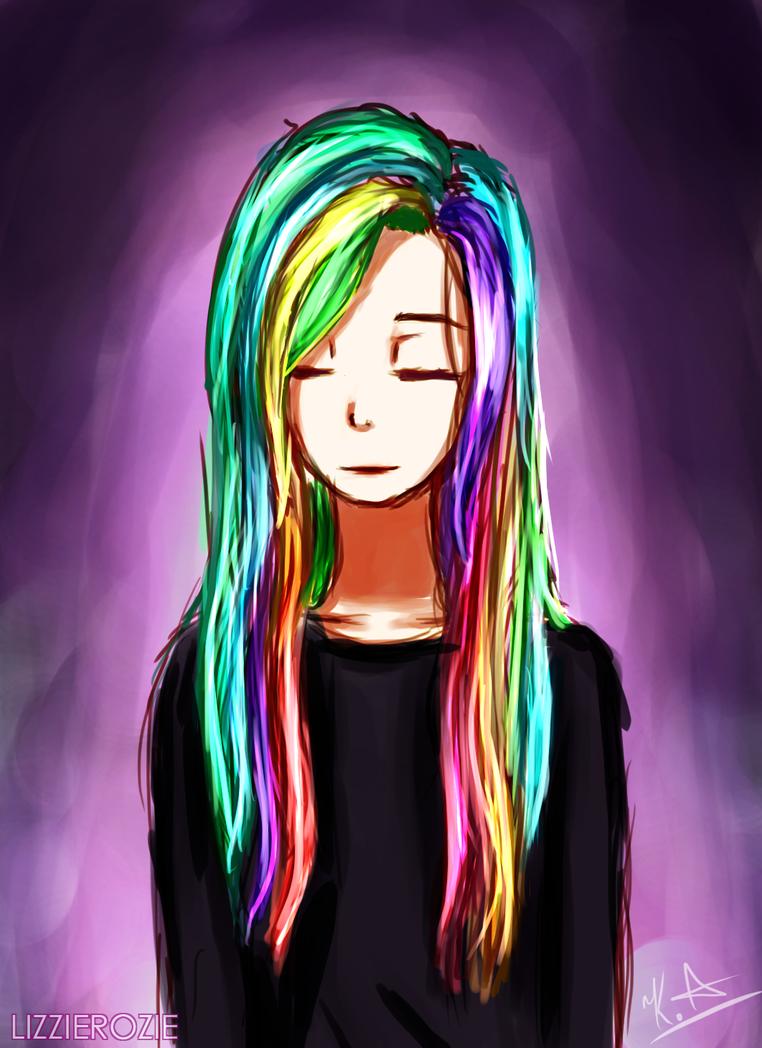 Rainbow [SPEEDPAINT] by LizzieRozie