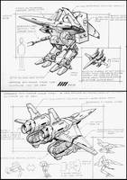 Unmanned drone type1 drawing by 4-X-S