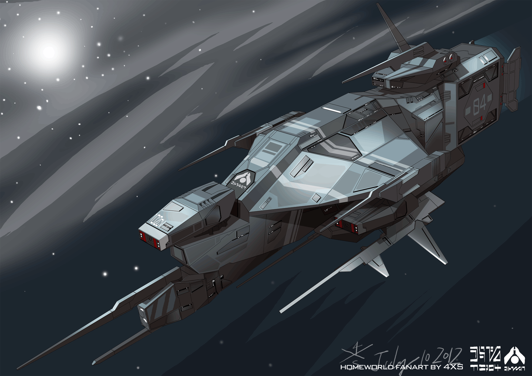 Kushan Destroyer from Homeworld PC game 1 by myname1z4xs