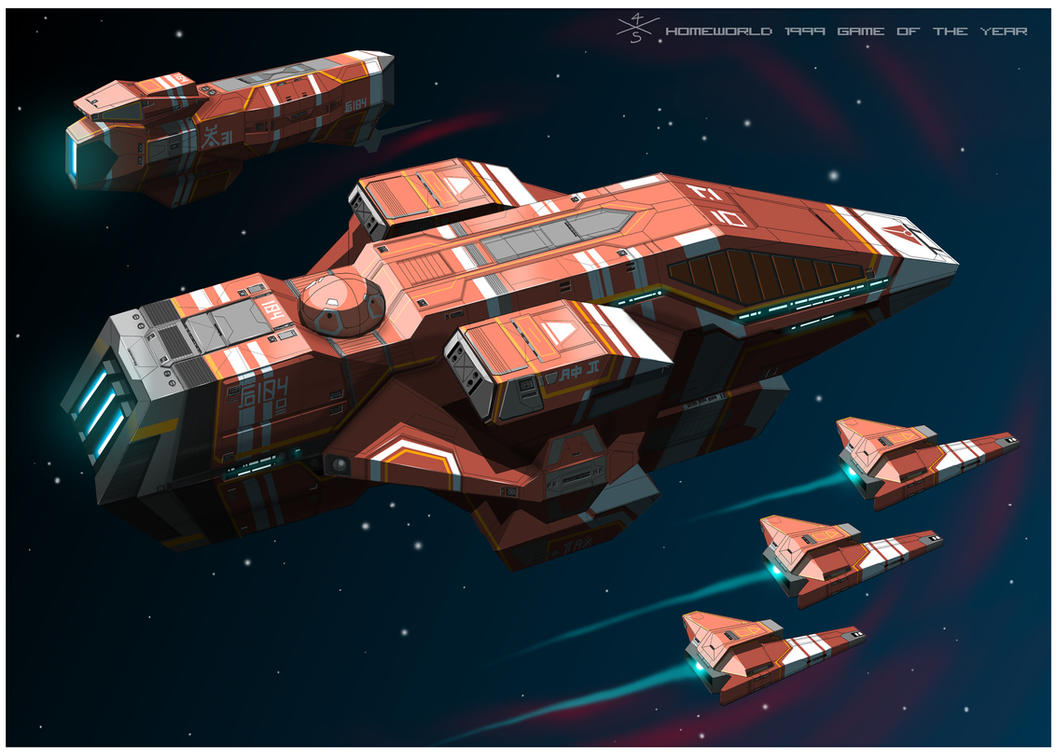 Kushan Heavy Cruiser of Homeworld1 [frameB] by myname1z4xs