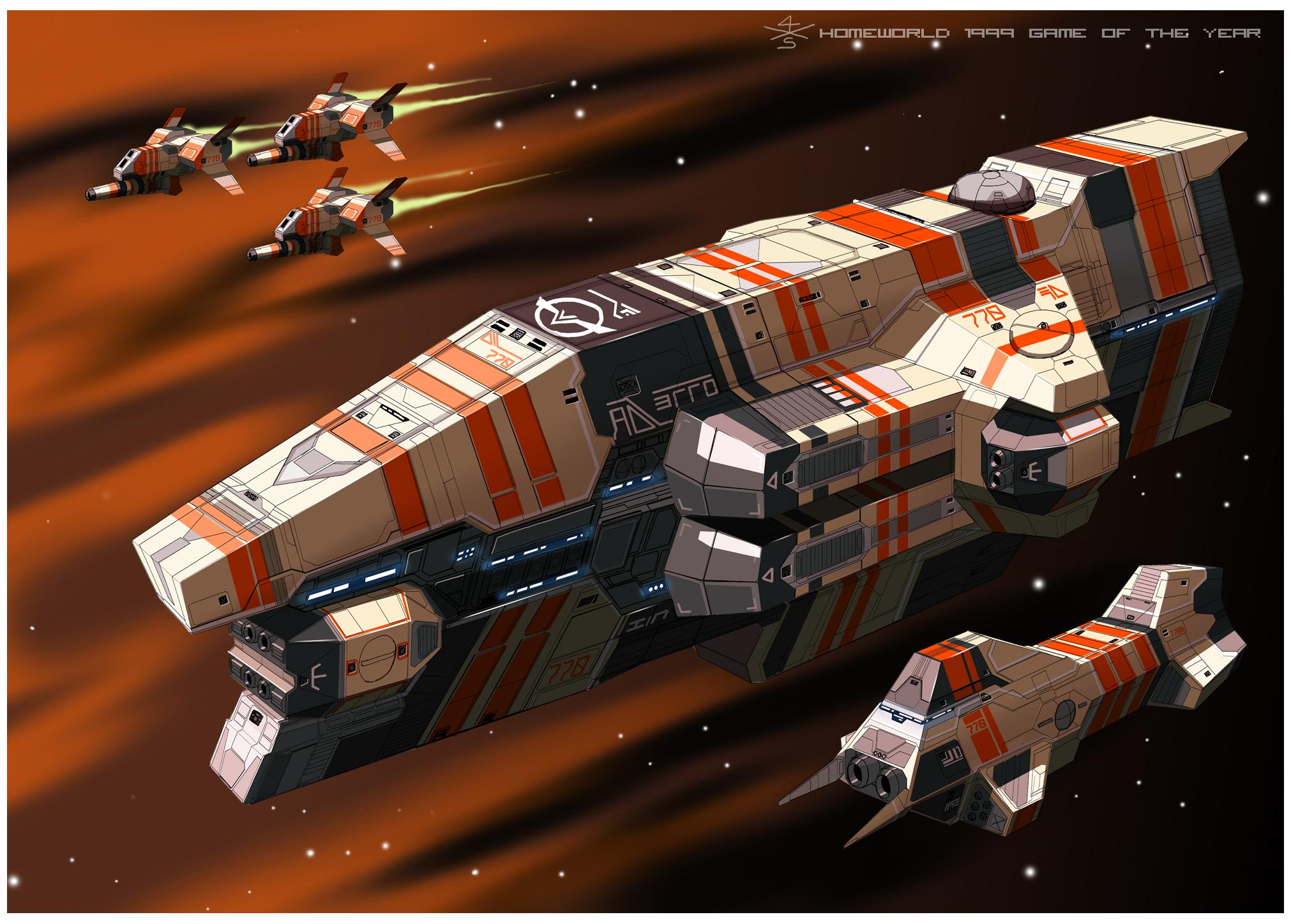 Taiidan Heavy Cruiser of Homeworld1 [frameA] by myname1z4xs
