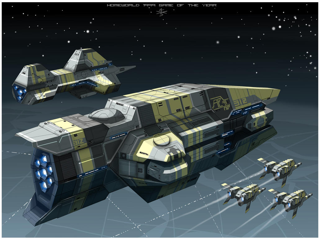 Taiidan Heavy Cruiser of Homeworld1 [frameB] by 4-X-S
