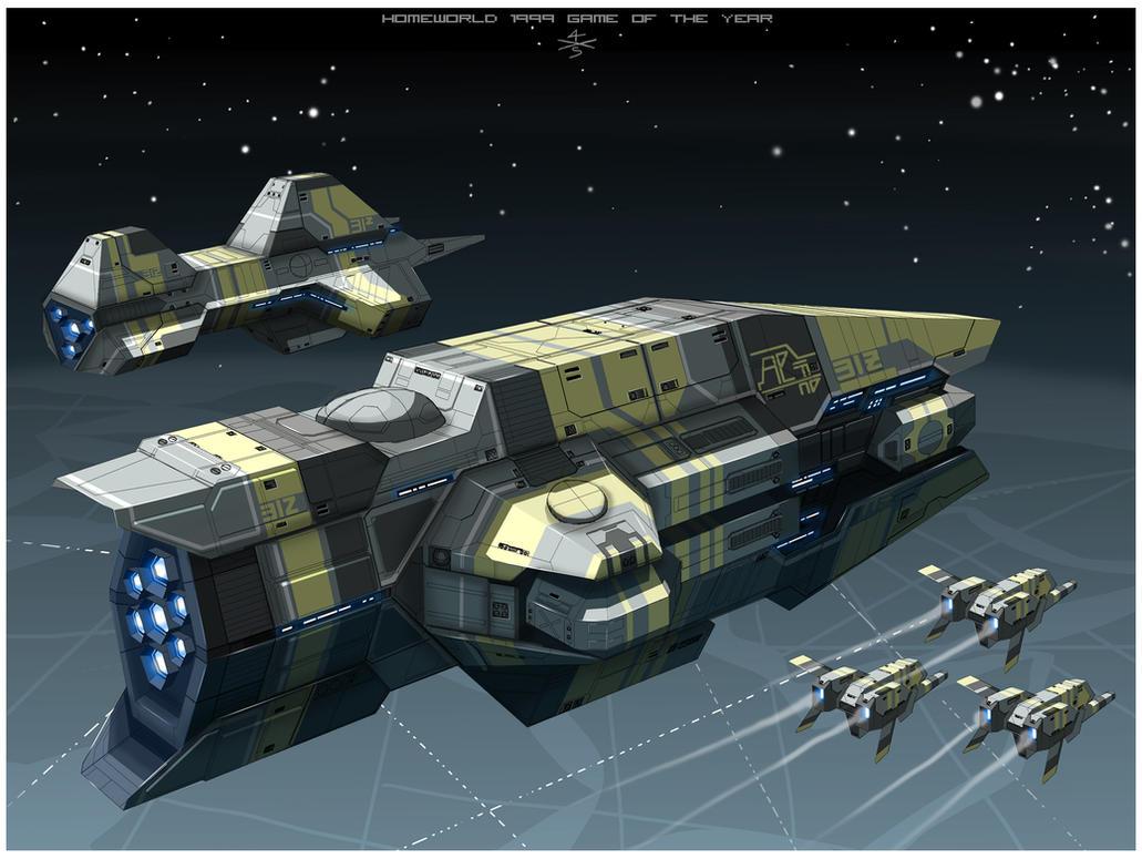 Taiidan Heavy Cruiser of Homeworld1 [frameB] by myname1z4xs