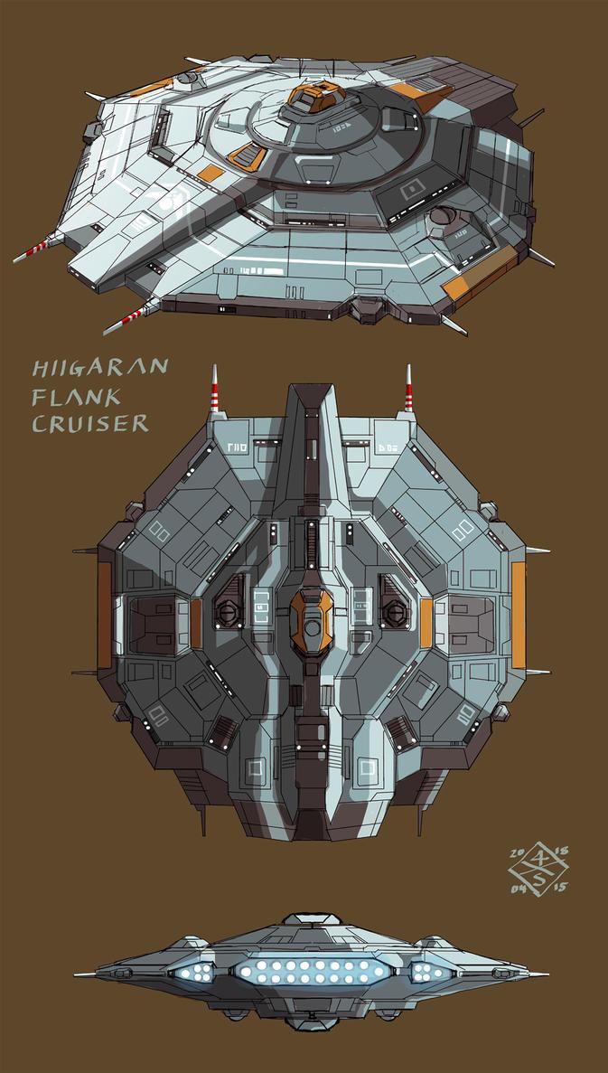 Hiigaran Flank Cruiser B by myname1z4xs