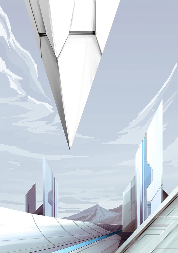 Futuristic holy city by 4-X-S