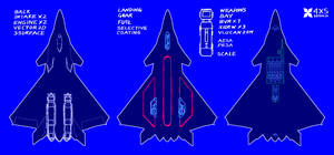 Realistic Inspired Stealth Jet Design by 4-X-S
